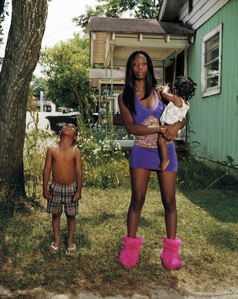 "Gillian Laub<br /> <em>Niesha with her children</em>, 2011<br /> Archival pigment ink prints<br /> 24 x 20""    Edition of 8<br /> 40 x 30""    Edition of 5<br /> 50 x 40""    Edition of 3"