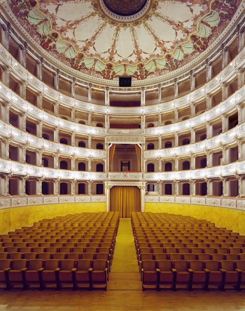 "Doug Hall<br /> <em>Teatro Comunale Verdi, Pisa 1</em>, 2002<br /> Archival pigment print<br /> 63 x 49""  Edition of 6"