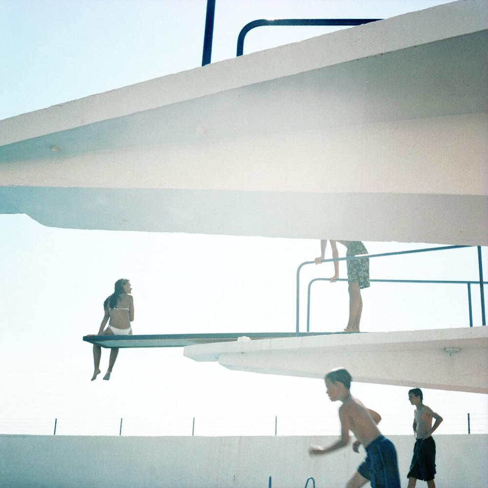 "Karine Laval<br /> <em>Swimming Pool #99, Cascais, Portugal</em>, 2002<br /> Chromogenic print <br /> 20 x 20""    Edition of 15<br /> 30 x 30""    Edition of 9"