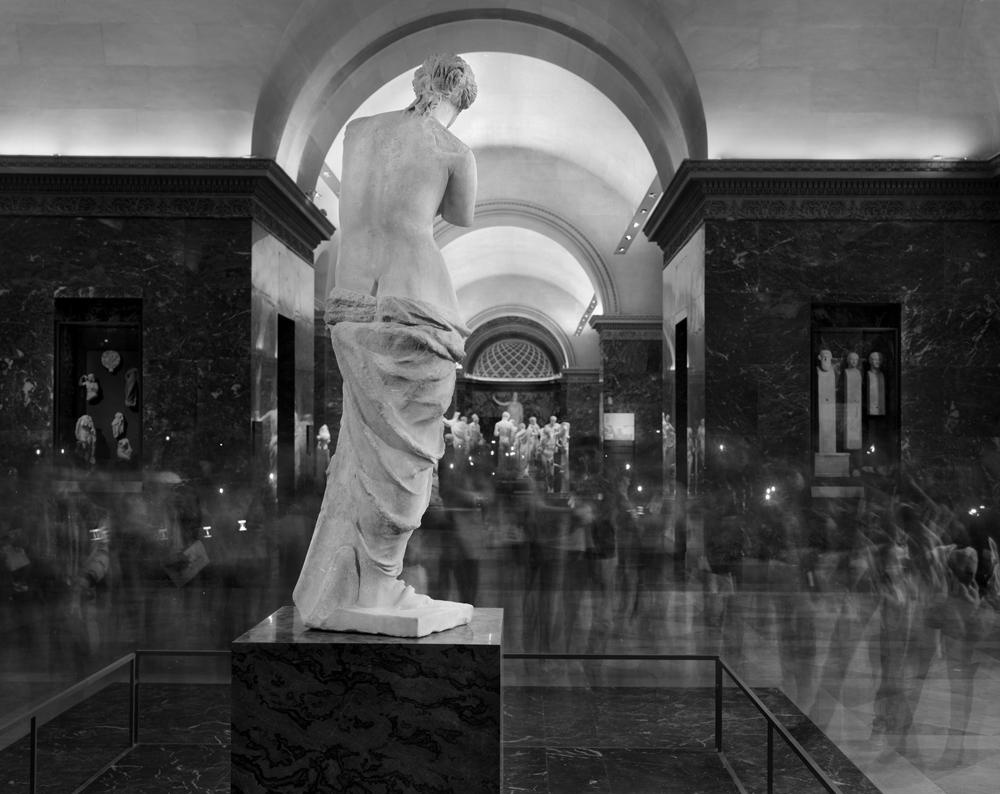 "Matthew Pillsbury<br /> <em>La Venus de Milo (backside), Le Louvre, </em>2010<br /> Archival pigment ink prints<br /> 13 x 19""    Edition of 20<br /> 30 x 40""    Edition of 10<br /> 50 x 60""    Edition of 3"