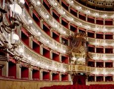 "Doug Hall<br /> <em>Teatro di San Carlos, Naples 3</em>, 2002<br /> Archival pigment print<br /> 63 x 50""  Edition of 6"