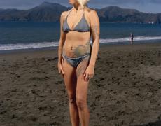 "Doug Hall<br /> <em>Woman on the Beach, San Francisco, </em>2010<br /> Digital C-Prints<br /> 32.5 x 26""  Edition of 6"