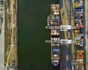 "Jeffrey Milstein<br /> <em>Container Port 39, </em>2014<br /> Archival pigment prints<br /> 30 x 40""    Edition of 10<br /> 40.5 x 54""    Edition of 10"