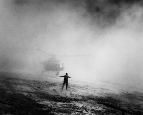 "Paolo Pellegrin<br /> <em>A helicopter used by DEA and Afghan drug interdiction troops, Afghanistan, </em>2006<br /> Pigment ink print<br />20 x 24""    Edition of 10 plus 2 APs<br /> 30 x 40""    Edition of 5 plus 2 APs<br /> 48 x 70""    Edition of 3 plus 2 APs"