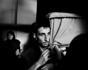 "Paolo Pellegrin<br /> <em>The funeral of Hezbollah fighter Jamin Yusef Shawidan, Zifta, Lebanon</em>, 2006<br /> Pigment ink print<br /> 20 x 24""    Edition of 10 plus 2 APs<br /> 30 x 40""    Edition of 5 plus 2 APs<br /> 48 x 70""    Edition of 3 plus 2 APs <br />"