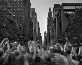 "Matthew Pillsbury<br /> <em>Manhattanhenge, Wednesday, May 29, 2013</em><br /> Archival pigment ink prints<br /> 20 x 24""    Edition of 10<br /> 30 x 40""    Edition of 6 (plus 2 APs)<br /> 50 x 60""    Edition of 2 (plus 1 AP)"