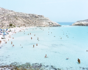 "Massimo Vitali<br /> <em>Lampedusa </em>(#4659), 2013<br /> Chromogenic print with Diasec mount<br /> 73 x 93""    Edition of 6"