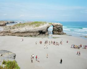 "Massimo Vitali<br /> <em>Las Catedrales, Low Tide </em>(#4454), 2011<br /> Chromogenic print with Diasec mount<br /> 76 x 100""    Edition of 6"