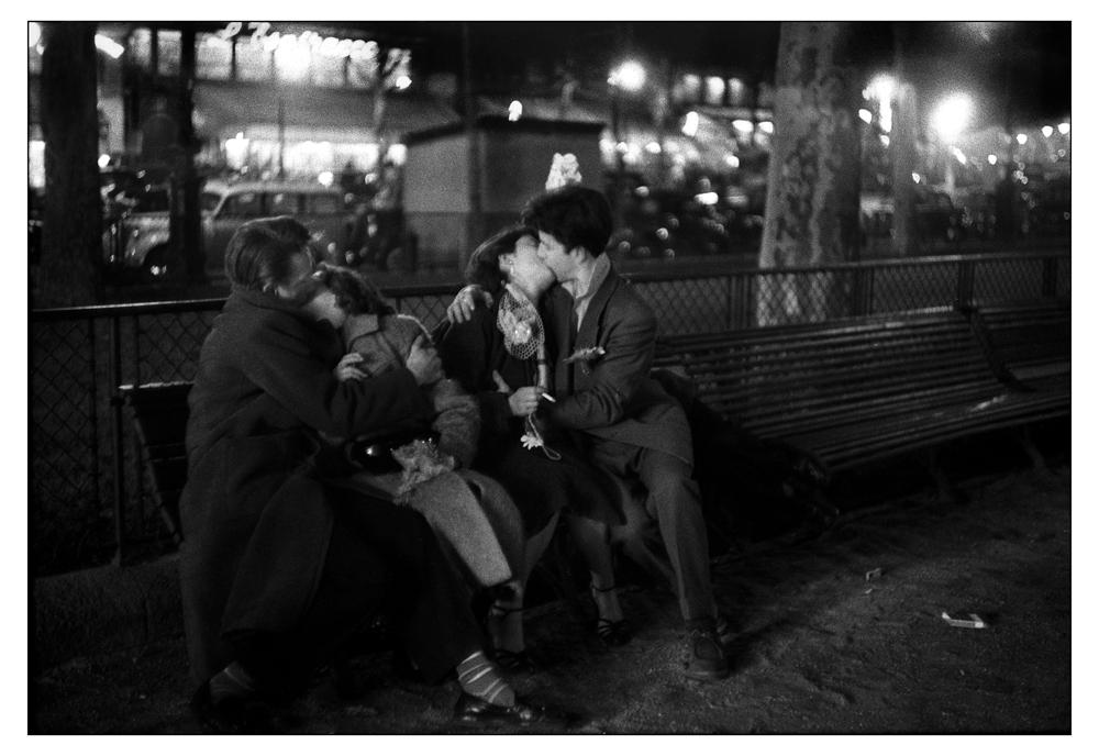 "Sabine Weiss<br /> <em>Paris, 1954</em><br /> Silver gelatin print<br /> 12 x 16""  Open edition<br /> 16 x 20""  Open edition"