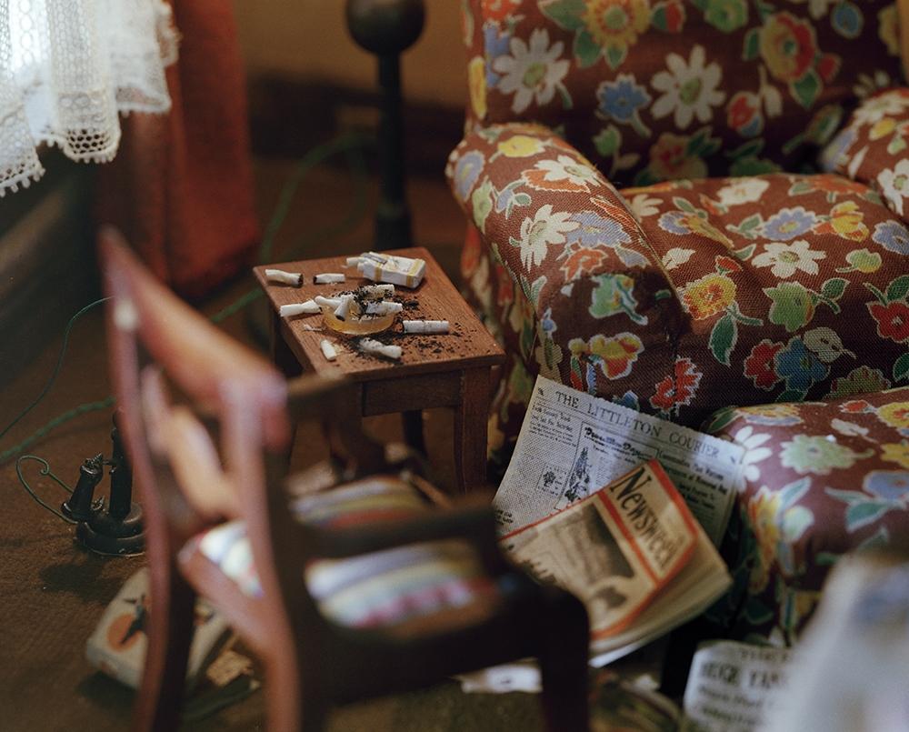 "Corinne Botz<br /> <em>Living Room (Cigarettes), 1999 - 2004</em><br /> Chromogenic print<br /> 11"" x 14""  Edition of 6 (plus 2 APs)"