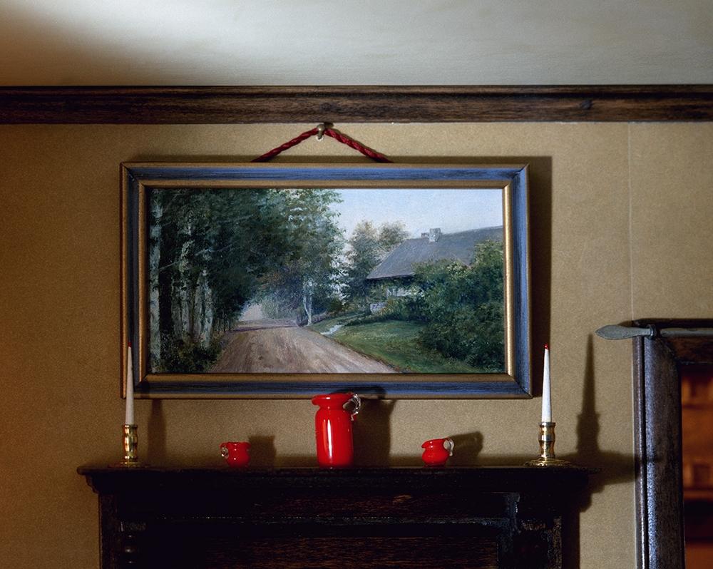 """Corinne Botz<br /> <em>Living Room (Mantle), 1999 - 2004</em><br /> Chromogenic print<br /> 40"""" x 50""""  Edition of 6 (pus 2 APs)"""