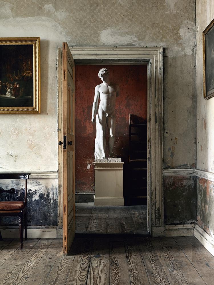 "Simon Brown<br /> <em>Statue Through Doorway, Ireland</em><br /> Lambda photographic prints<br /> 20 x 15""  Edition of 10<br /> 36 x 27""  Edition of 6<br /> 36 x 48""  Edition of 6<br /> 48 x 64""  Edition of 3"