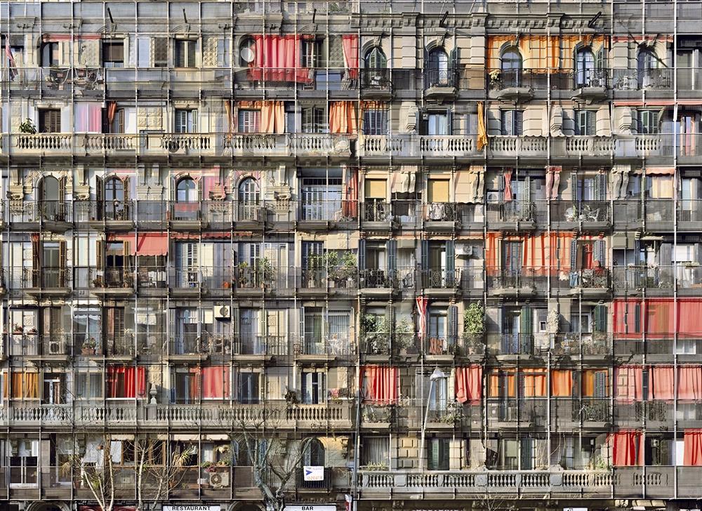 "Stèphane Couturier<br /> <em>Barcelone, Parallel no. 2, 2008</em><br /> Chromogenic prints<br /> 39 x 54""  Edition of 5<br /> 71 x 97""  Edition of 5"