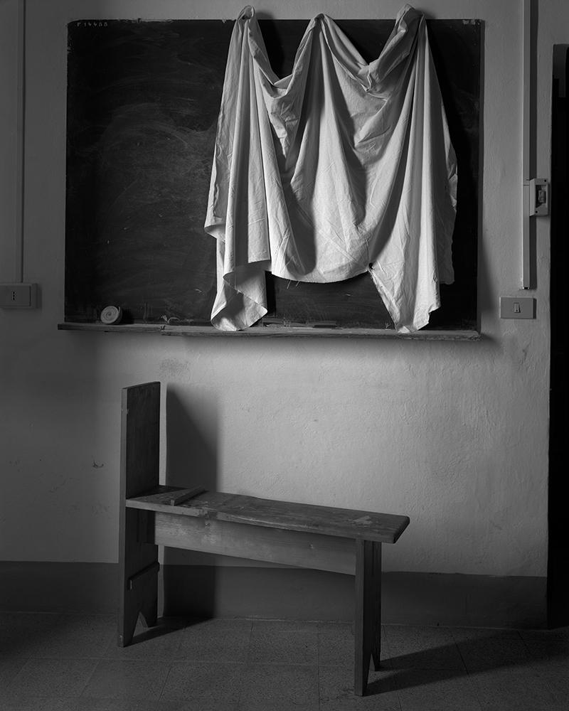 """Regina DeLuise<br /> <em>Jack's Classroom, Cortona, Italy (#211)</em><br /> Platinum-palladium print on rice paper<br /> 10 x 8""""  Edition of 30"""