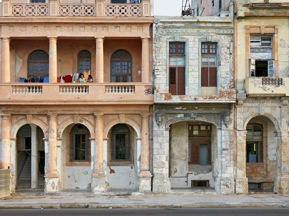 "Jeffrey Milstein<br /> <em>El Malecon, Havana, Cuba, </em>2004<br /> Archival pigment prints<br /> 16 x 24""  Edition of 15<br /> 22 x 33""  Edition of 5"