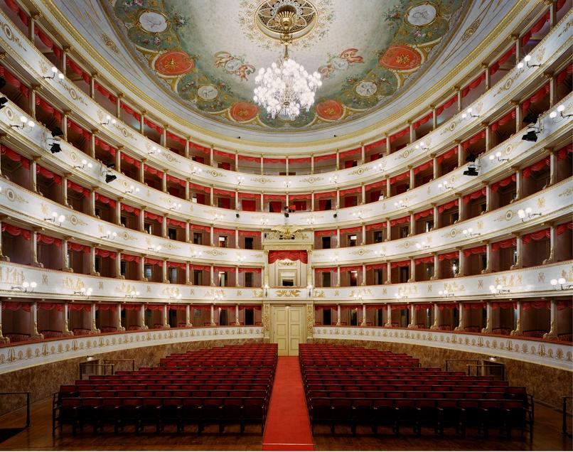 "Doug Hall<br /> <em>Teatro Comunale, Modena</em>, 2002<br /> Archival pigment print<br /> 48 x 61""  Edition of 6"