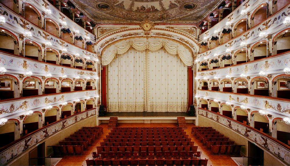 "Doug Hall<br /> <em>Teatro Comunale, Ferrara 3</em>, 2002<br /> Archival pigment print<br /> 48 x 61""  Edition of 6"