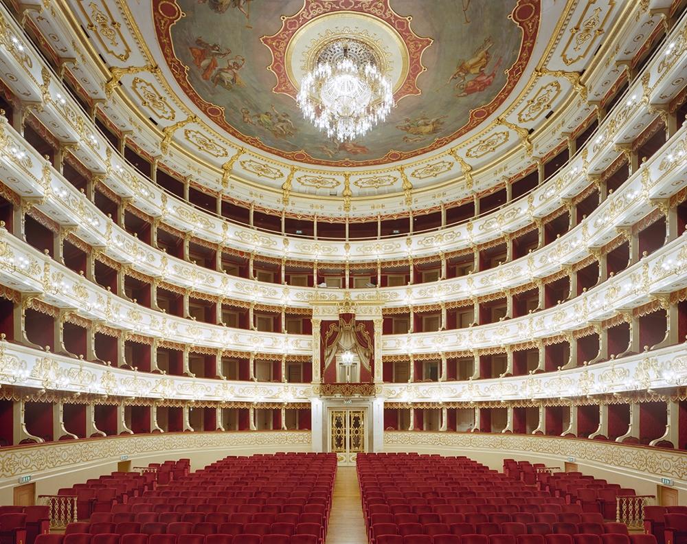 "Doug Hall<br /> <em>Teatro Regio, Parma</em>, 2002<br /> Archival pigment print<br /> 48 x 61""  Edition of 6"