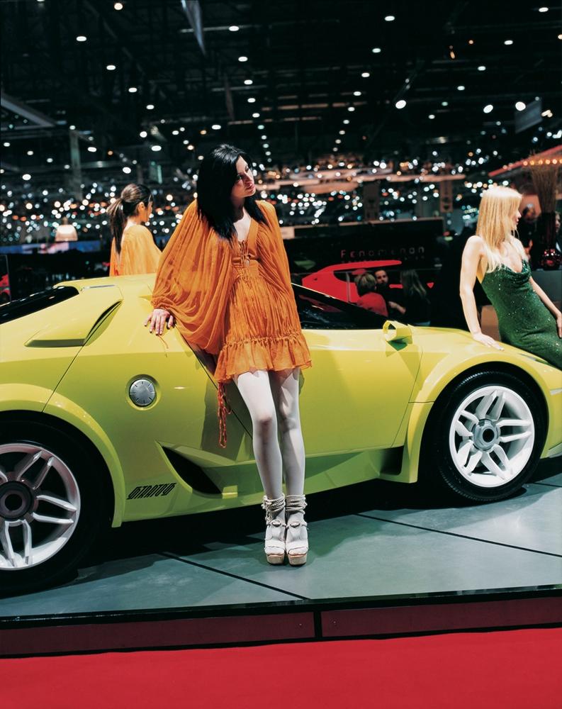 "Jacqueline Hassink<br /> <em>Lancia girl 2, Geneva International Geneva Motor Show Geneva, Switzerland (March 1, 2005)</em><br /> Chromogenic prints<br /> 37.5 x 31""  Edition of 7<br /> 60 x 49""  Edition of 7"
