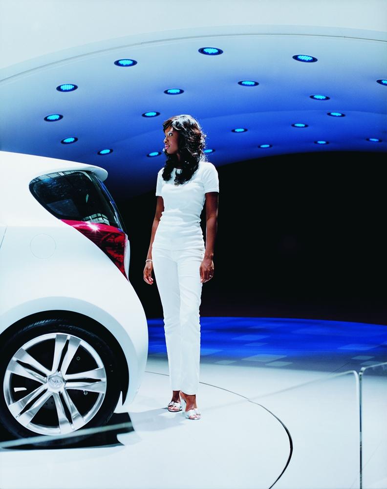 "Jacqueline Hassink<br /> <em>Toyota girl 1, Frankfurt 2007 International Motor Show Frankfurt am Main, Germany (September 11, 2007)</em><br /> Chromogenic prints<br /> 37.5 x 31""  Edition of 7<br /> 60 x 49""  Edition of 7"