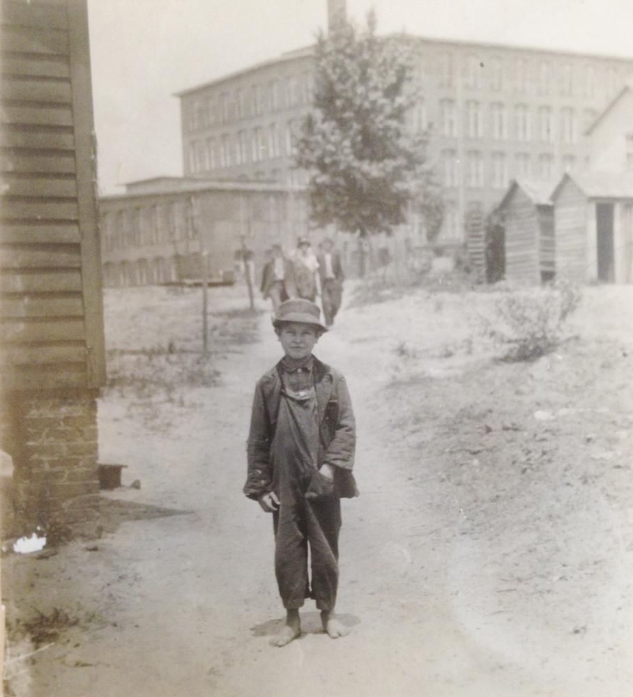 Lewis Hine<br /> <i>Eddie Norton, Saxon Mill, MA, </i>1912<br /> Silver gelatin print<br /> 4 x 3 1/2 inches (unique)