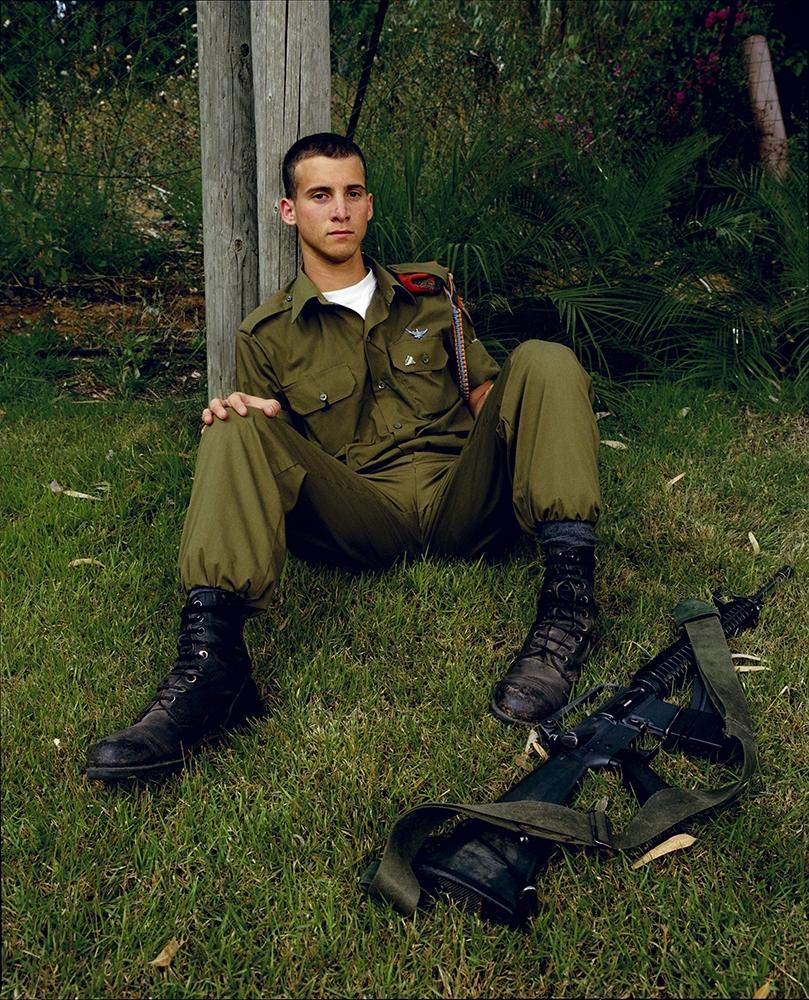 """Gillian Laub<br /> <em>Ron in his Backyard, Kfar Meishar, Israel, May, 2002</em><br /> Chromogenic prints<br /> 24 x 20""""  Edition of 8<br /> 40 x 30""""  Edition of 5<br /> 50 x 40""""  Edition of 3"""