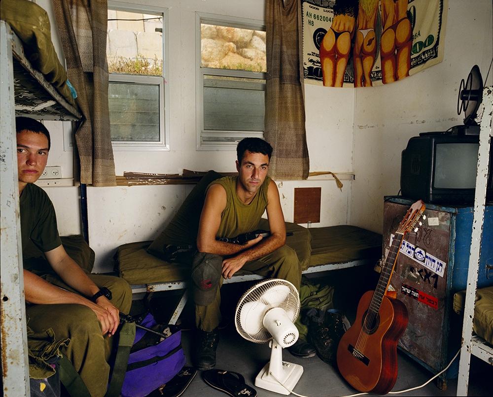 "Gillian Laub<br /> <em>Ben and Gil on a Break, Rosh Hanikra, August, 2004</em><br /> Chromogenic prints<br /> 20 x 24""  Edition of 8<br /> 30 x 40""  Edition of 5<br /> 40 x 50""  Edition of 3"