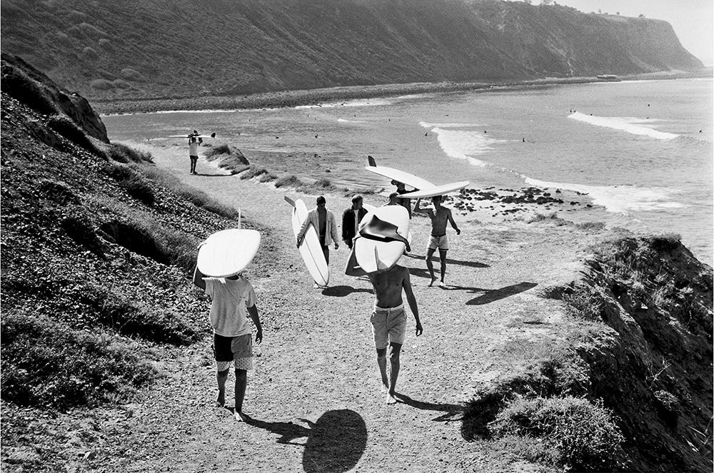 "LeRoy Grannis<br /> <em>Palos Verdes Cove,</em>1964<br /> Gelatin silver print<br /> 16 x 20""  Edition of 25 plus 3 APs<br /> 30 x 40""  Edition of 15 plus 2 APs<br /> 48 x 72""  Edition of 5 plus 2 APs"