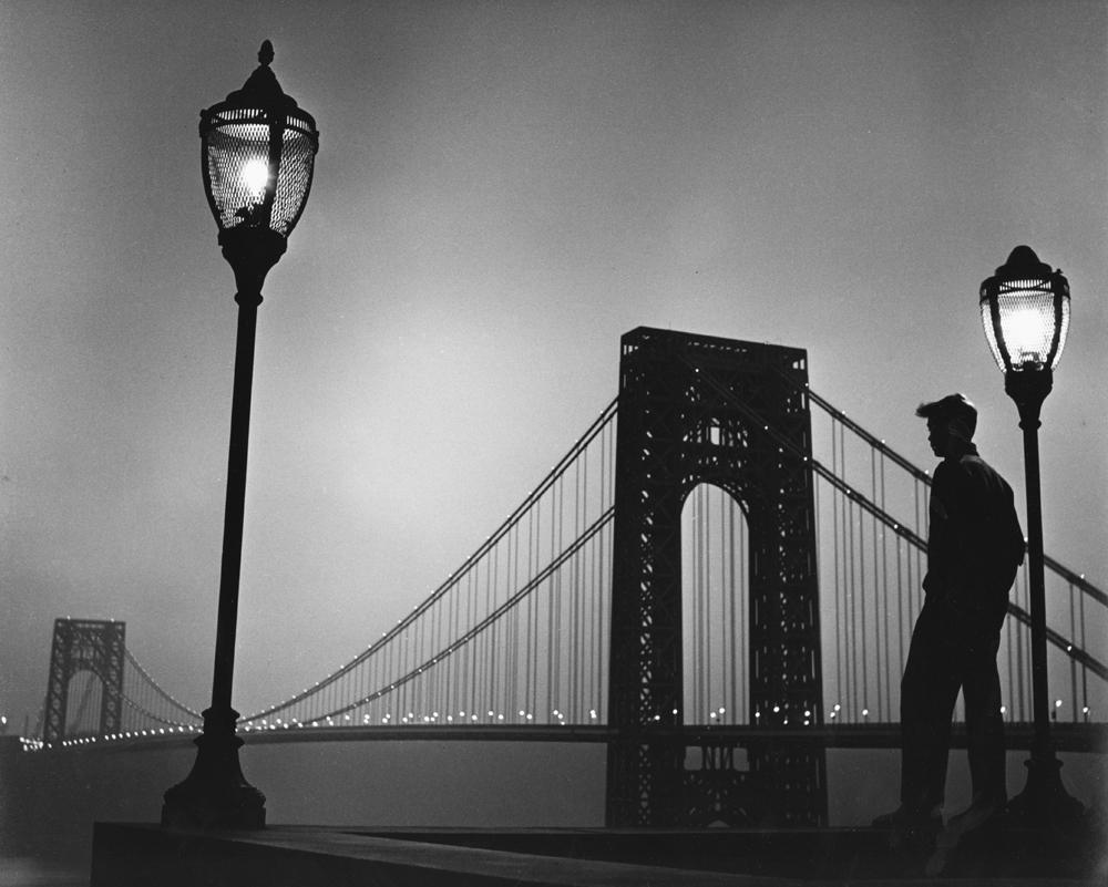 """Benn Mitchell<br /> <em>George Washington Bridge</em><br /> gelatin silver print<br /> 14 x 11"""" and 20 x 16"""""""