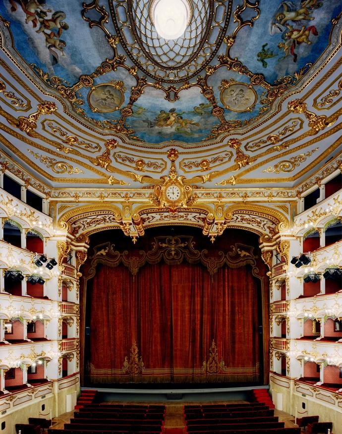"Doug Hall<br /> <em>Teatro Municipale, Piacenza 2, </em>2002<br /> Archival pigment print<br /> 62 x 48""  Edition of 6"