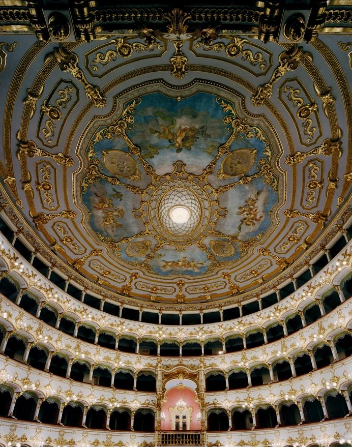 "Doug Hall<br /> <em>Teatro Municipale, Piacenza 3, </em>2002<br /> Archival pigment print<br /> 63 x 50""  Edition of 6"