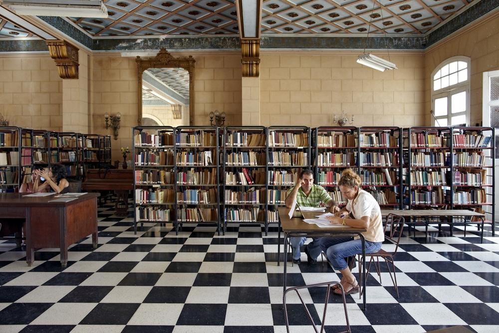 "Jeffrey Milstein<br /> <em>Public Library, Trinidad, Cuba, </em>2004<br /> Archival pigment prints<br /> 16 x 24""  Edition of 15<br /> 22 x 33""  Edition of 5"