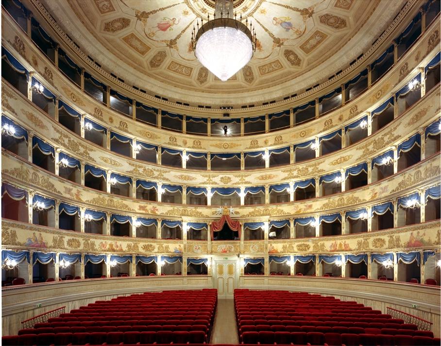 "Doug Hall<br /> <em>Teatro Comunale Alighieri, Ravenna</em>, 2002<br /> Archival pigment print<br /> 50 x 62""  Edition of 6"