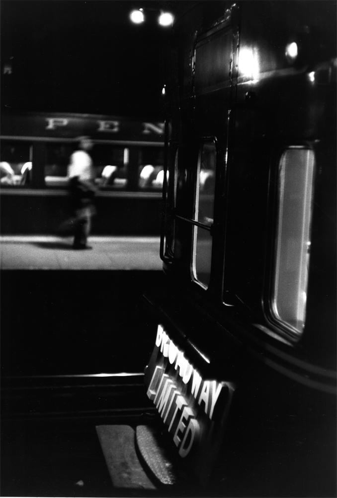 """Louis Stettner – Penn Station<br /> <em>Broadway Limited, Penn Station, 1958</em><br /> gelatin silver print<br /> 11x14""""<br /> 16x20""""<br /> 20x24"""""""