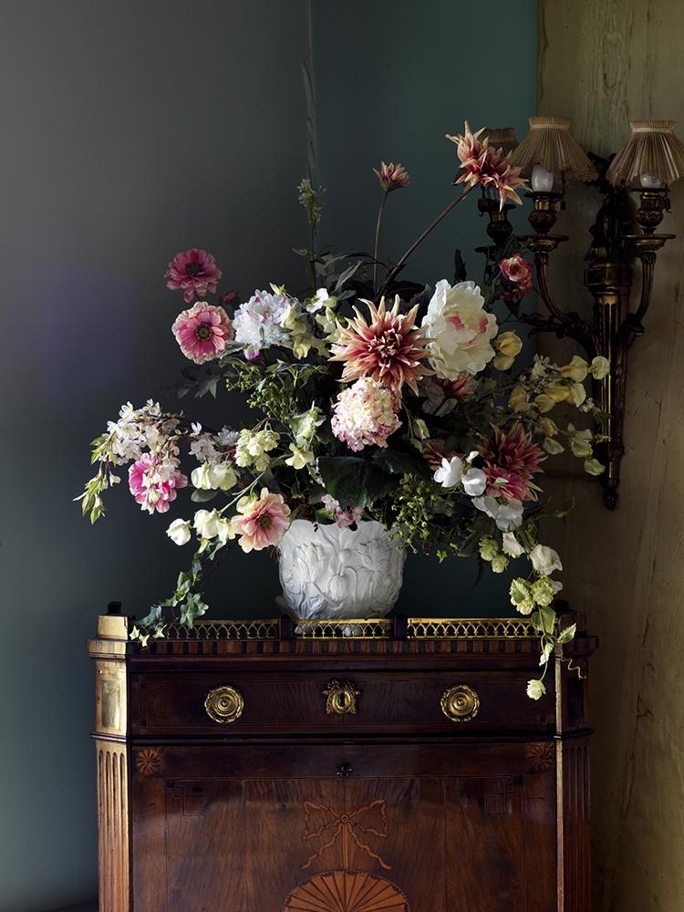 """Simon Brown<br /> <em>The Flower Arrangement Against Green</em><br /> Lambda photographic prints<br /> 20 x 15""""  Edition of 10<br /> 36 x 27""""  Edition of 6<br /> 36 x 48""""  Edition of 6<br /> 48 x 64""""  Edition of 3"""