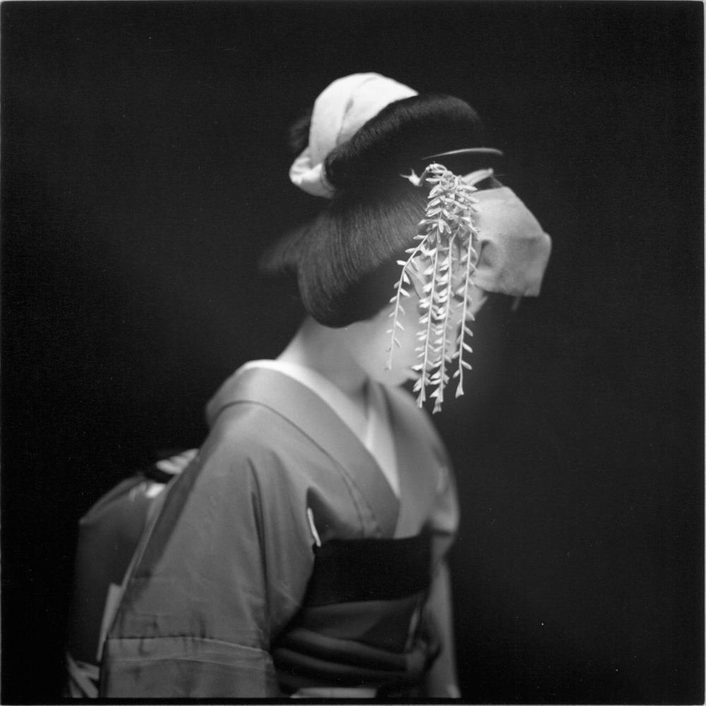 """Hiroshi Watanabe<br /> <em>Masuda from Kabuki, </em>2003<br /> Silver Gelatin print<br /> 10 x 10""""  Edition of 30<br />"""