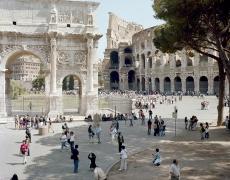 Massimo Vitali<br /> <em>Titus Arch Pine Tree, Rome</em>(#3092), 2008<br /> Chromogenic print with Diasec mount <br /> Edition of 6