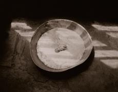 """Linda Connor<br /> <em>Vajra, Zanskar, Ladakh, India</em>, 1985     <br /> Gold toned printing out paper fromoriginal glass plate negative<br /> 10 x 12"""" unique print<br /> <br />"""