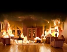 """Matthew Albanese<br /> <em>Burning Room</em><br /> Digital C print<br /> 20 x 30""""  Edition of 10<br /> <br />"""