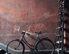 "Simon Brown<br /> <em>Black Bike with Ladder, Ireland</em><br /> Lambda photographic prints<br /> 20 x 15""  Edition of 10<br /> 36 x 27""  Edition of 6<br /> 36 x 48""  Edition of 6<br /> 48 x 64""  Edition of 3"