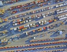 "Jeffrey Milstein<br /> <em>Container Port 23, </em>2014<br /> Archival pigment prints<br /> 30 x 40""  Edition of 10<br /> 40.5 x 54""  Edition of 10"