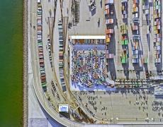 "Jeffrey Milstein<br /> <em>Container Port 24, </em>2014<br /> Archival pigment prints<br /> 30 x 40""  Edition of 10<br /> 40.5 x 54""  Edition of 10"