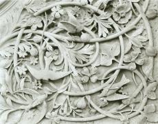 "Jed Devine<br /> <em>Plate 41, from Bethesda Terrace Series, 1985</em><br /> Platinum-palladium print on Japanese rice paper<br /> 8 x 10"""