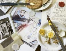 """Jed Devine<br /> <em>Untitled (Men Hard at Work), </em>2013<br /> Archival pigment ink prints<br /> 24 x 34""""  Edition of 5"""