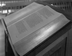 "Jed Devine<br /> <em>Untitled (Open Book)</em><br /> 8 x 10""<br /> Platinum-palladium print on Japanese rice paper<br /> Signed on recto"