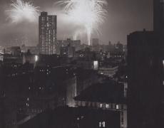 "Jed Devine<br /> <em>Untitled (Brooklyn Bridge Centennial)</em><br /> Platinum-palladium print on Japanese rice paper<br /> 11 x 14"""