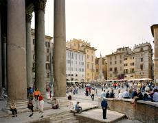 "Doug Hall<br /> <em>Piazza dell Rotonda, Rome, </em>2002<br /> Archival pigment print<br /> 48 x 60.5""  Edition of 6"