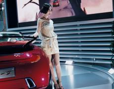 """Jacqueline Hassink<br /> <em>Kia girl 2, Tokyo 2003 Tokyo Motor Show Tokyo, Japan (October 24, 2003)</em><br /> Chromogenic prints<br /> 37.5 x 31""""  Edition of 7<br /> 60 x 49""""  Edition of 7"""