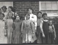 Lewis Hine<br /> <i>Cotton Mills, Roanoke, VA</i>1911<br /> Silver gelatin print<br /> 4 5/8 x 6 9/16 inches (unique)