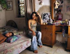 """Gillian Laub<br /> <em>Madelaine and her brother, Akko, Isreal, September, 2005</em><br /> Chromogenic prints<br /> 20 x 24""""  Edition of 8<br /> 30 x 40""""  Edition of 5<br /> 40 x 50""""  Edition of 3"""